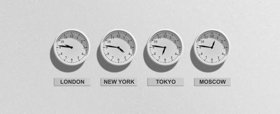 Le décalage horaire pendant votre stage à l'étranger !